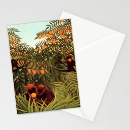 """Henri Rousseau """"Apes in the Orange Grove"""" Stationery Cards"""