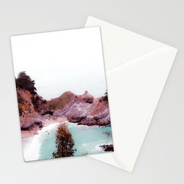 waterfall at Mcway Falls, Big Sur, Highway 1, California, USA Stationery Cards