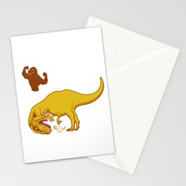 Dschinn T-Rex Funny Dinosaur Fan Gift Stationery Cards