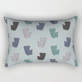 Seventies Armchair Pattern - Version 2 #society6 #seventies Rectangular Pillow