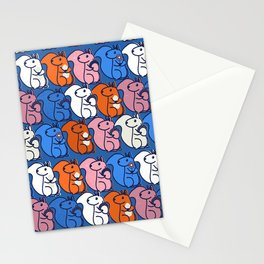 retro squirrels- pattern Stationery Cards