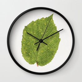 Vintage hazelnut leaf Wall Clock
