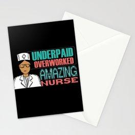 Overworked Amazing Nurse Stationery Cards