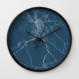 Launceston Blueprint Street Map, Launceston Colour Map Prints Wall Clock