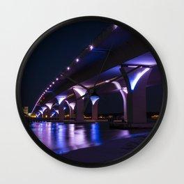 Lesner Bridge at Night Wall Clock