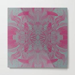 Feminine Devine in Fuchsia Pink and Powder Mint Metal Print