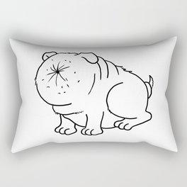 Der Arschlochhund - The Asshole Dog Rectangular Pillow