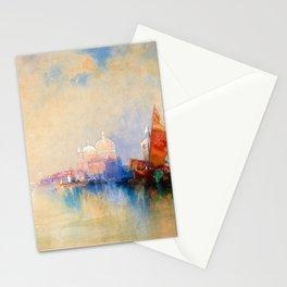Thomas Moran - Venice, The Lagoon Looking Toward Santa Maria Della Salute Stationery Cards