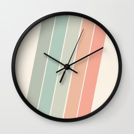 Trippin' - retro 70s socal minimal striped abstract art california surfing vintage Wall Clock