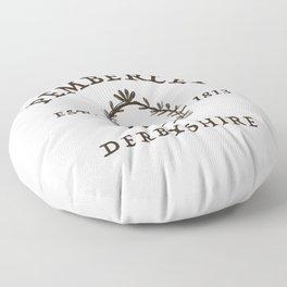 Pemberley 1813 - Pride And Prejudice - Jane Austen Floor Pillow