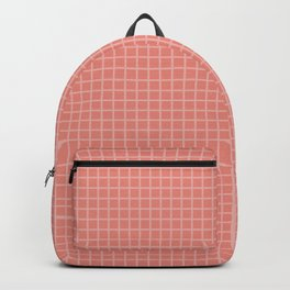 Light and Dark Coral Grid Backpack