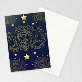 Galaxy Lotus star Stationery Cards