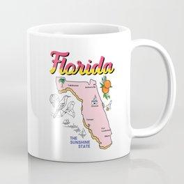 Vintage Map of Florida Coffee Mug