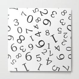 numbers pattern Metal Print
