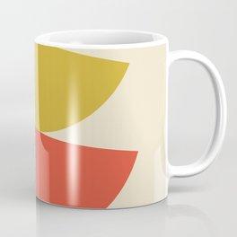 Mid-Century Modern Half Circles - Multi Coffee Mug