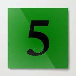 5 (BLACK & GREEN NUMBERS) Metal Print