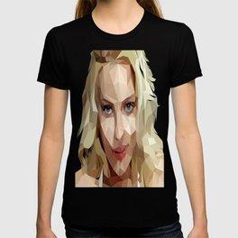 Scarlett Johansson Low Poly Art T-shirt