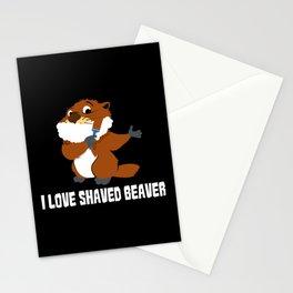I Love Shaved Beaver | Sarcasm Stationery Cards