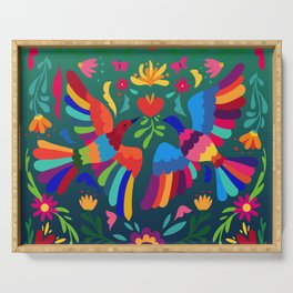 embroidery mexican floral  Serving Tray
