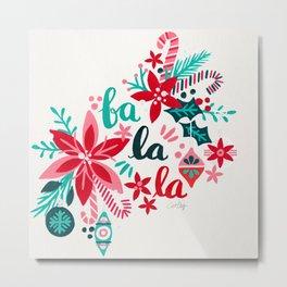 Fa La La Bouquet – White Metal Print
