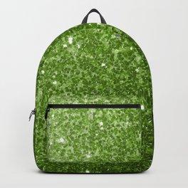 Beautiful light green greenery glitter sparkles Backpack