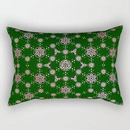 archaic pattern. crop circle. sacred geometry Rectangular Pillow