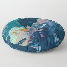 The Peace of Wild Things: a vibrant abstract piece in a variety of colors by Alyssa Hamilton Art Floor Pillow