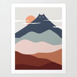 Cat Landscape 21 Art Print