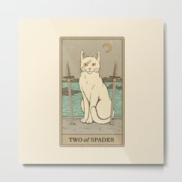 Two of Spades Metal Print