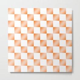 Orange gradient checkerboard pattern  Metal Print