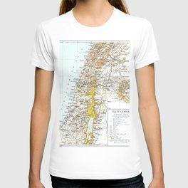 Russian Map of Palestine 1900 T-shirt