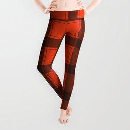 Classic Red Plaid Leggings