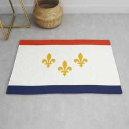 flag of new orleans,NOLA,Crescent City,Big Easy,Nawlins, jazz,Lousiana,french,cajun,treme Rug