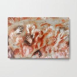 Cave Art Lascaux Hands Metal Print