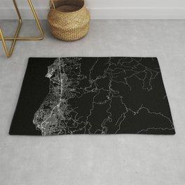 Santa Barbara Black Map Rug