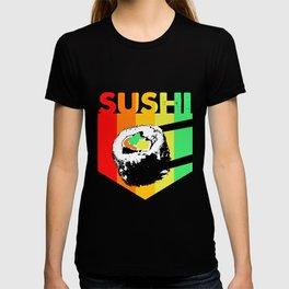 Sushi Retro Colorful Vintage Kawaii Maki T-shirt