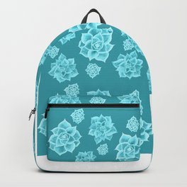 Succulents in the Sunshine - Teal Backpack
