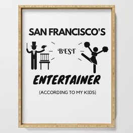 San Francisco's Best Entertainer Serving Tray
