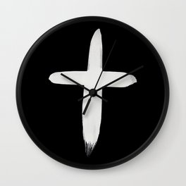 Watercolor Cross II Wall Clock