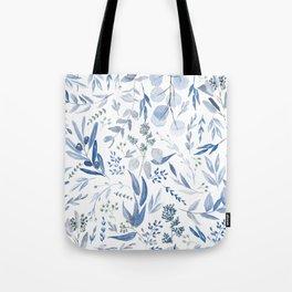 Eucalyptus Pattern - Blue Tote Bag