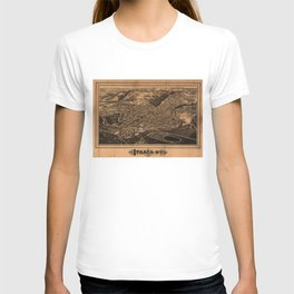 Vintage Pictorial Map of Ithaca New York (1882) T-shirt