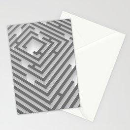maze - labyrinth Stationery Cards