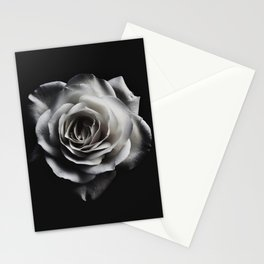 Rose Petal blossom black and white floral photograph / art photography Stationery Cards