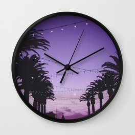 Tropical Summer Night Wall Clock