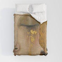 Golden Tears (Freya's Heartache) portrait painting by Gustav Klimt Comforters