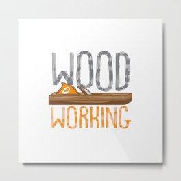 9 Finger Wood Working Club Metal Print