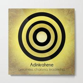 Adinkrahene - Adinkra Art Poster Metal Print
