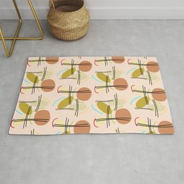 Abstract chopstick-pattern Rug