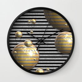 Striped Bubbles Wall Clock