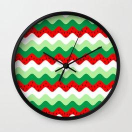watermelon rickrack Wall Clock
